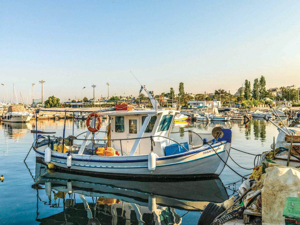 The small fishing boat marina.