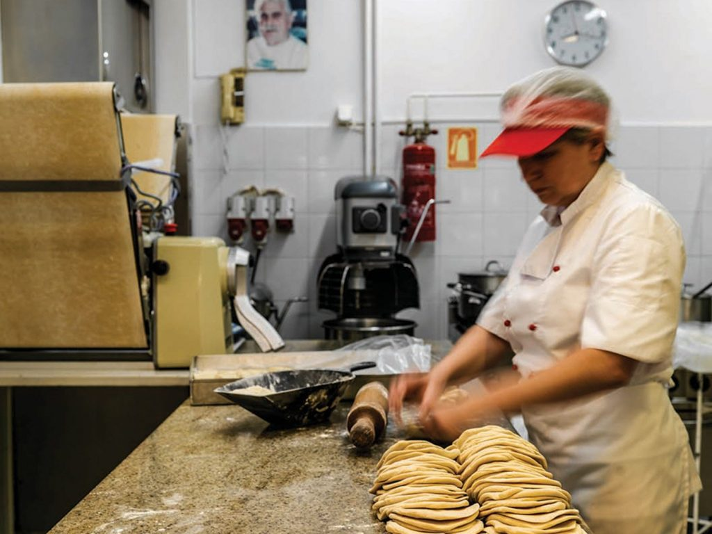 Tasos serves the best cheese pies in Glyfada.