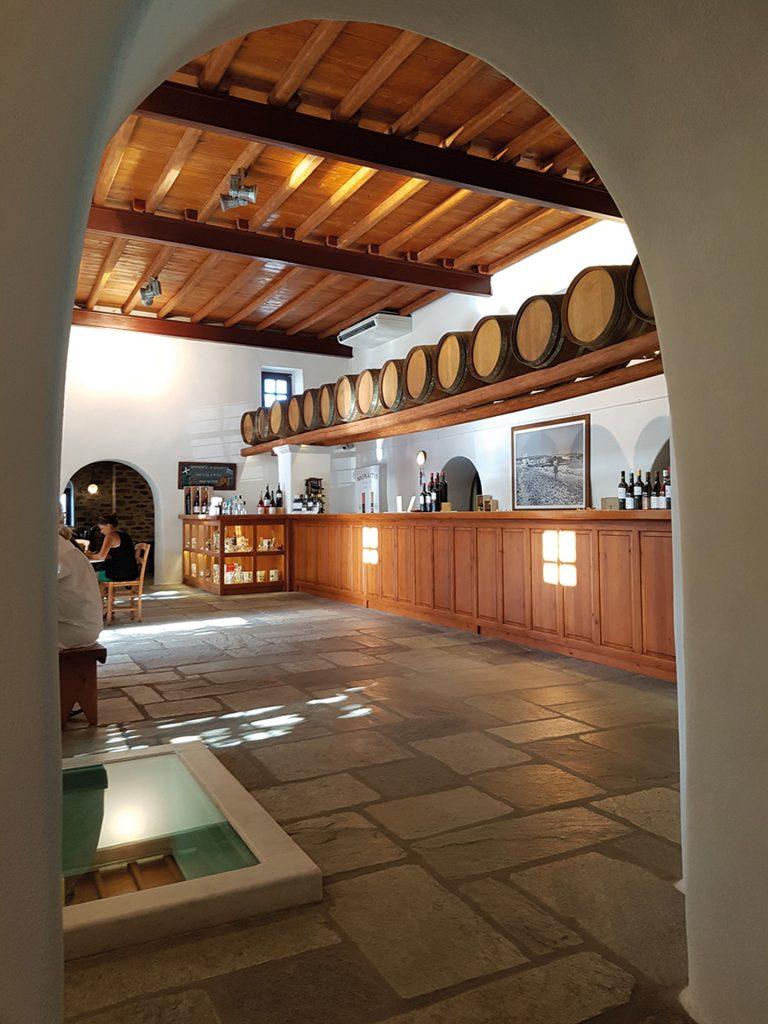 Inside the Moraitis Winery.
