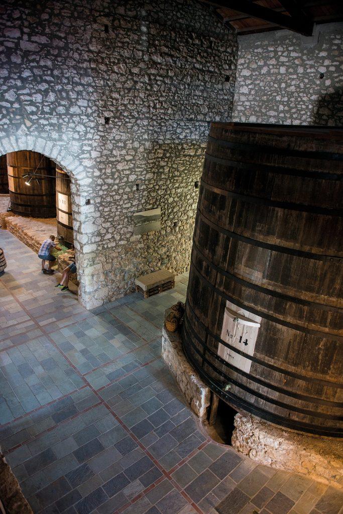 Visiting the Samos Wine Museum.